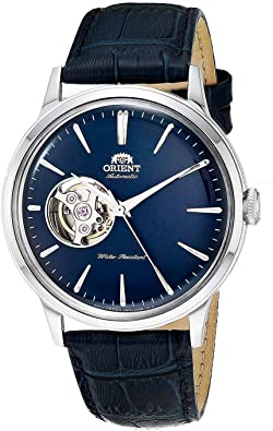 Orient Automatic Stainless Steel and Leather Dress Watch